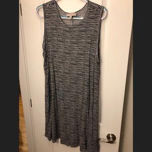 Stripped Tank Top Dress